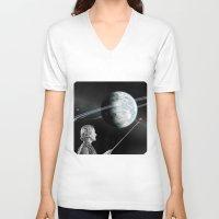 teacher V-neck T-shirts featuring Teacher by Cs025