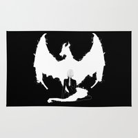 mother of dragons Area & Throw Rugs featuring Mother of Dragons by Lily's Factory