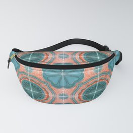 Portuguese Tiles Azulejos Blue Red Pattern Fanny Pack