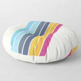 Classic 70s Style Retro Stripes - Zapata Floor Pillow