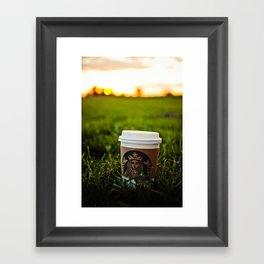 Starbucks Coffee Pumpkin Spice Latte  Framed Art Print