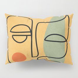 Abstract Face 20 Pillow Sham