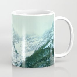 Snowy Winter Mountain Landscape with Alpenglow Coffee Mug