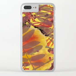 Autumn Tropical Vibe Clear iPhone Case