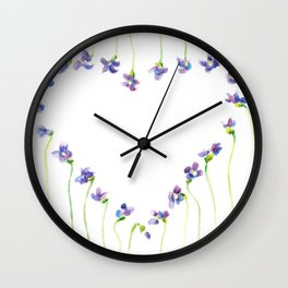 Violet Squared Wall Clock