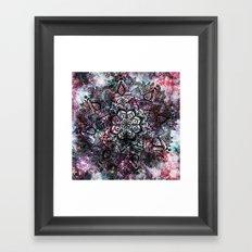 Intergalactic Mandala Framed Art Print