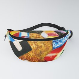 Composition by Vladimir Baranoff - Rossein - Vintage Painting Fanny Pack