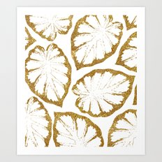 Monstera Gold #society6 #decor #buyart Art Print