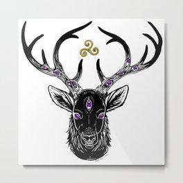 Stag King Metal Print