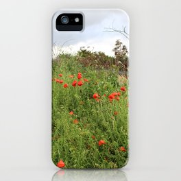 Poppies on a Hill iPhone Case