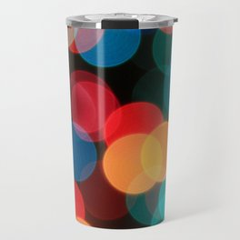 Christma Lights Bokeh Style Travel Mug
