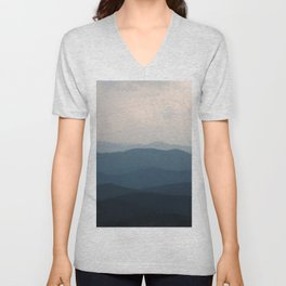 Watercolor Landscape, Niwot Ridge 01, Colorado Unisex V-Neck