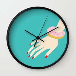 Donuts are the new diamond Wall Clock