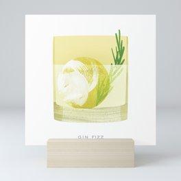 Cocktail Hour: Gin Fizz Mini Art Print