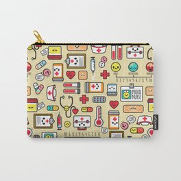 """""""Proud To Be A Nurse"""" Pattern Carry-All Pouch"""