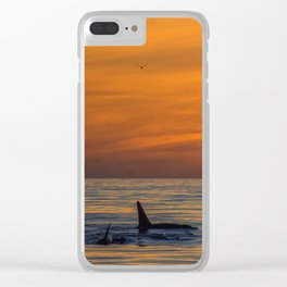 Killer Sunset Clear iPhone Case