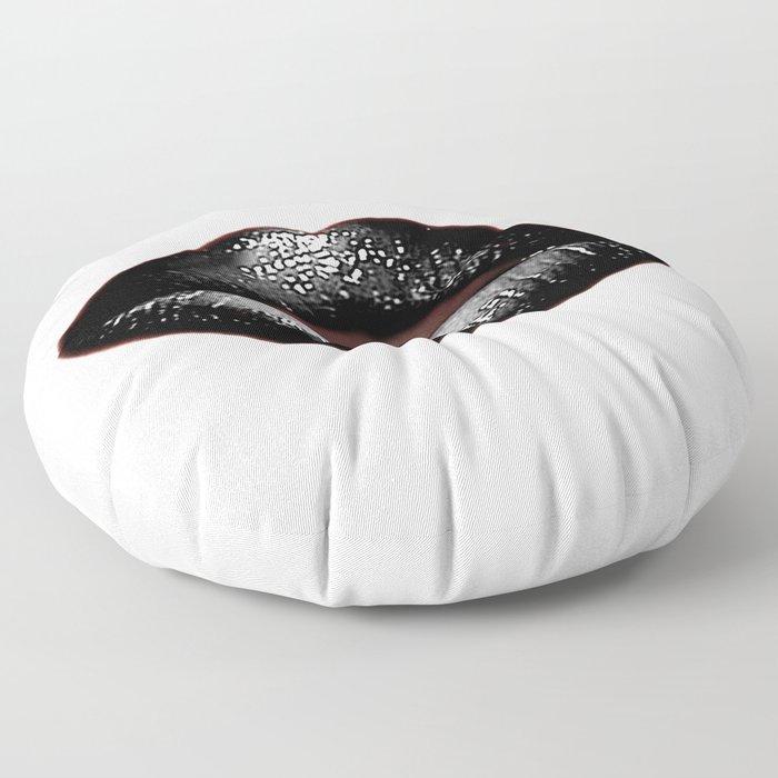 Black Goth Lips SWAK A820 Floor Pillow