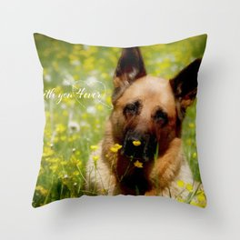 I will stay with you 4ever Throw Pillow