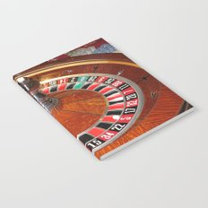 Wooden Roulette wheel casino gaming Notebook