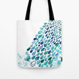 Inkdrops of Joy - Right Side Tote Bag