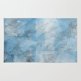 Abstract blue pattern 3 Rug