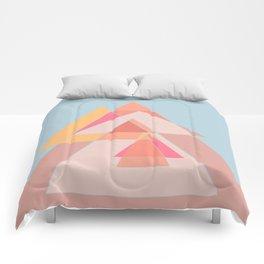 Geometric shapes dancing Comforters