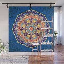 Multicolor New Age Zen Yoga Lover Far Out Mandala Spiral Wall Mural