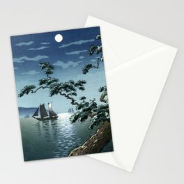 Tsuchiya Koitsu - Maiko Sea Shore - Japanese Vintage Woodblock Painting Stationery Cards