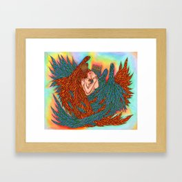 Rainbow Prince And Princess Angels Framed Art Print