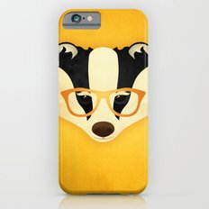 Hipster Badger: Gold Slim Case iPhone 6s