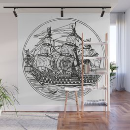 Galleon Wall Mural