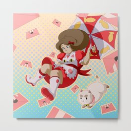 Bee and Puppycat Metal Print