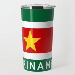suriname flag name text Travel Mug