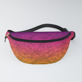 Yellow-purple marble Fanny Pack