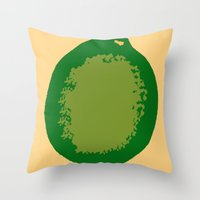 lime green Throw Pillows featuring lime by D.J.D