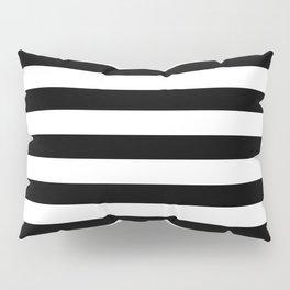 Midnight Black and White Stripes Pillow Sham