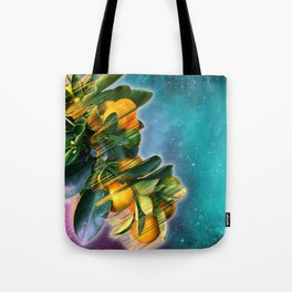 Small fruit tree in outer space Tote Bag