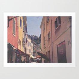 A Street In Cassis Art Print