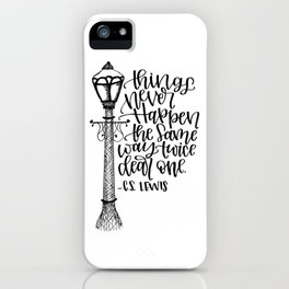 Narnia Lamppost iPhone Case