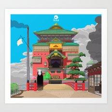Spirited Away - Pixel Art Art Print
