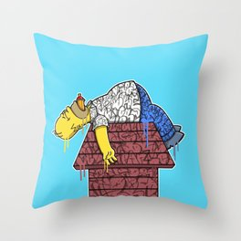 Homer (Snoozy Edition) Throw Pillow