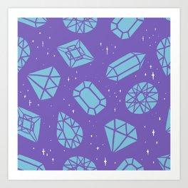 Gemstones Galore Art Print