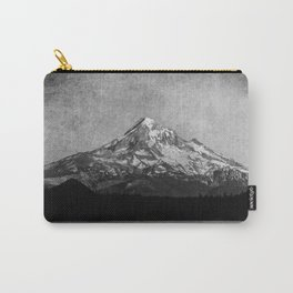 Mt Hood Black and White Vintage Nature Photography Carry-All Pouch