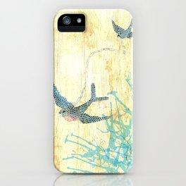 Birds of blue iPhone Case