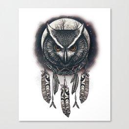 Dreamcatcher Owl Canvas Print