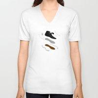 converse V-neck T-shirts featuring Converse deconstruct by Davıd Coccıante