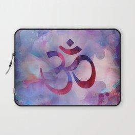 Om Symbol Watercolor Purples Laptop Sleeve