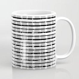 Black and White Distressed Plaid Coffee Mug