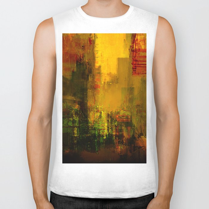 Yellow City Biker Tank