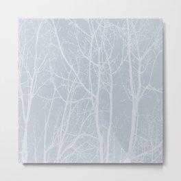 Tree silhouettes on bluestone Metal Print